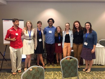 'Next Gen' Graduate Students including Grace Ferrara (2nd from left) and Lindsay Gordon (4th from right).